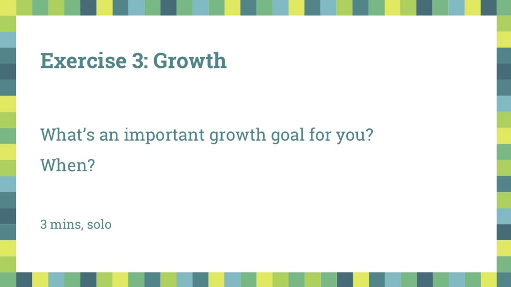 growth Exercise