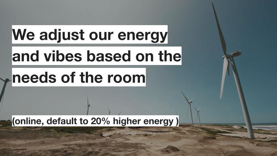 Workshop energy, online!